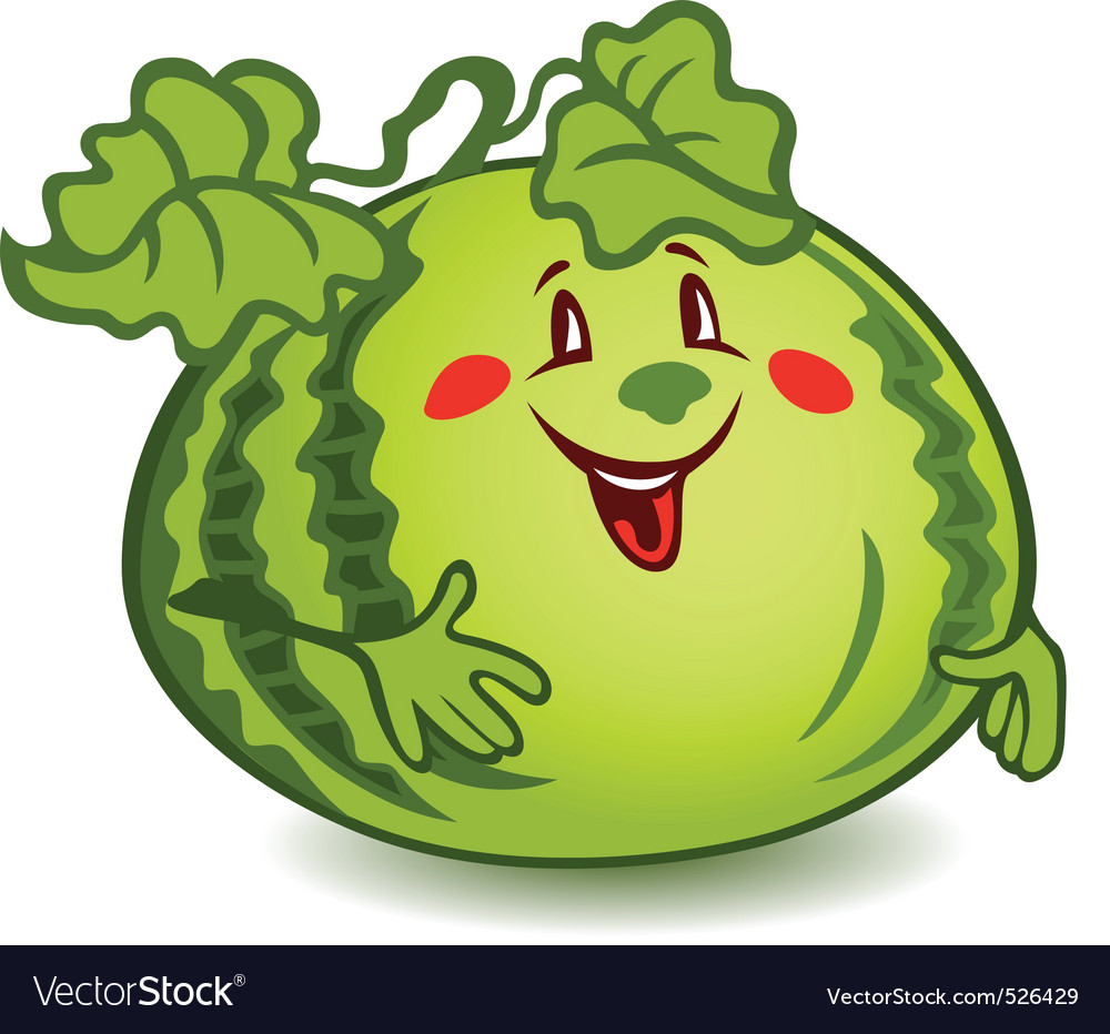Cartoon watermelon vector image