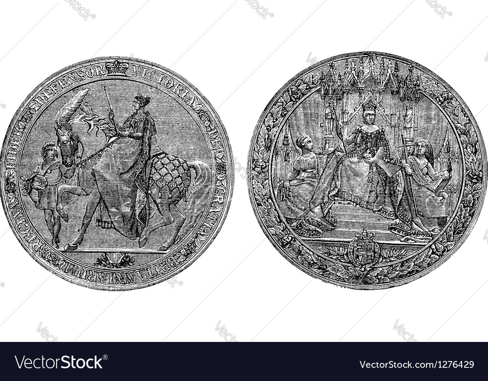 Great Seal of England vector image
