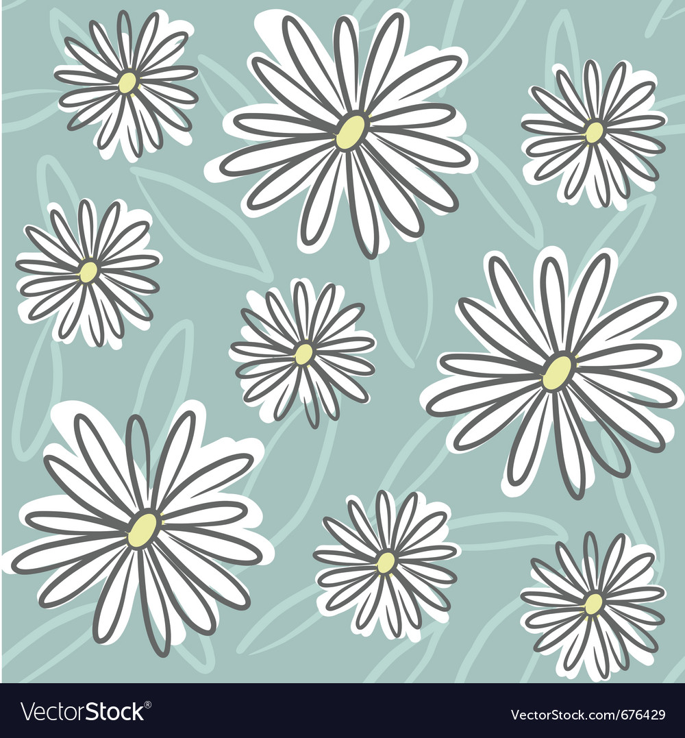 Seamless doodle floral vector image