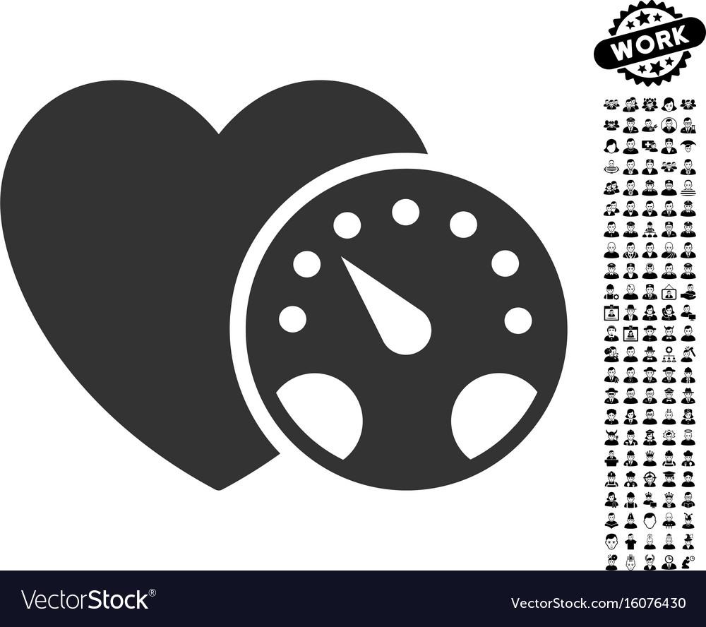 Blood pressure meter icon with work bonus vector image buycottarizona Images