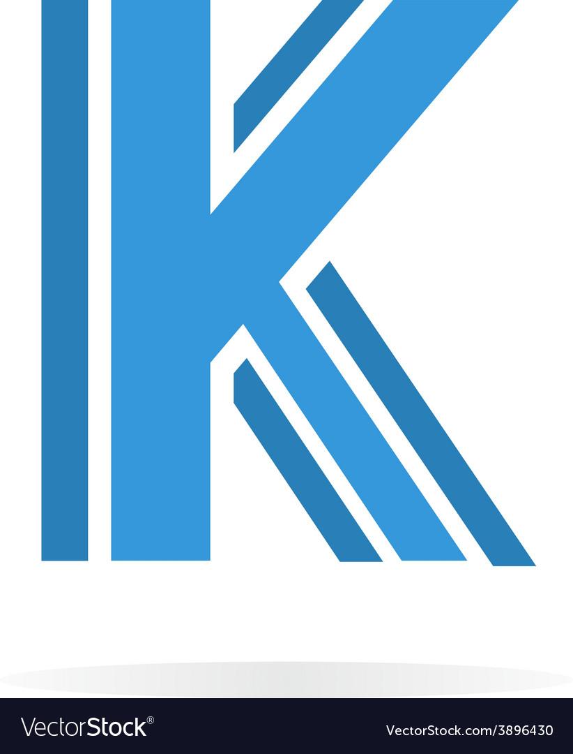 Logo k letter for company design template vector image logo k letter for company design template vector image spiritdancerdesigns Images