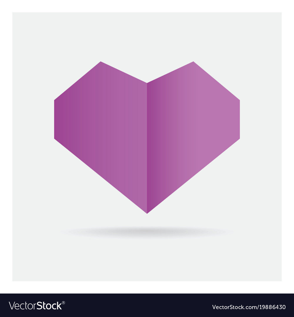 Valentine love gay purple heart paper craft in vector image jeuxipadfo Images