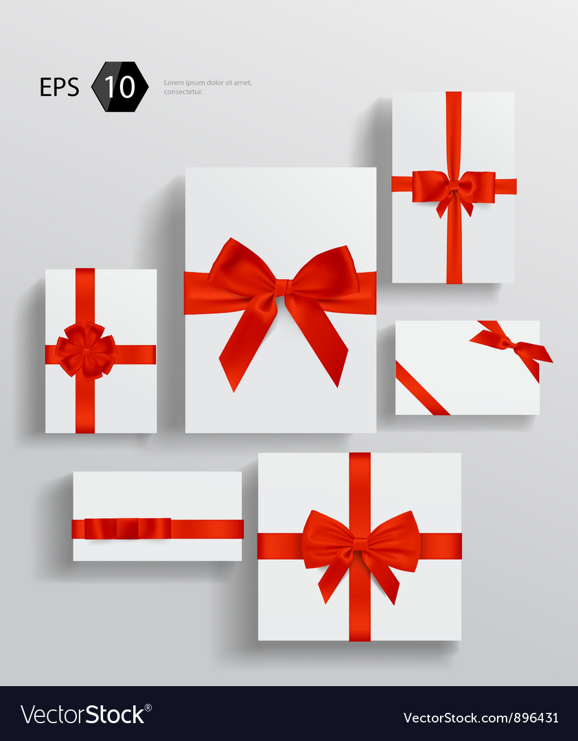 Gift wrapping collection Vector Image