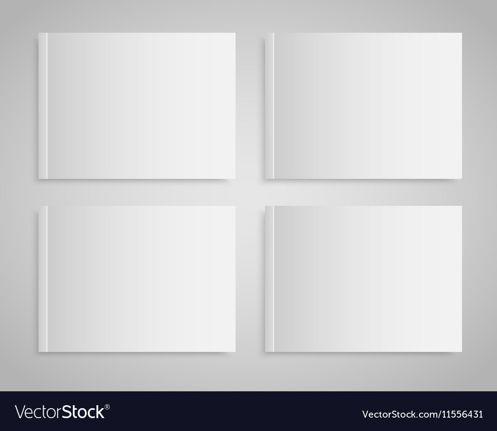 Blank empty magazine or book Mock up Four vector image