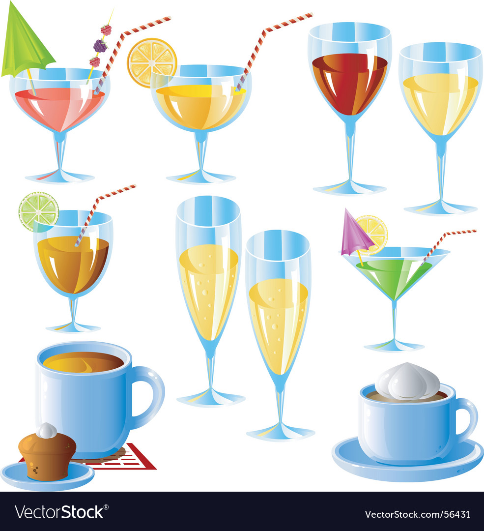 Drinks vector image