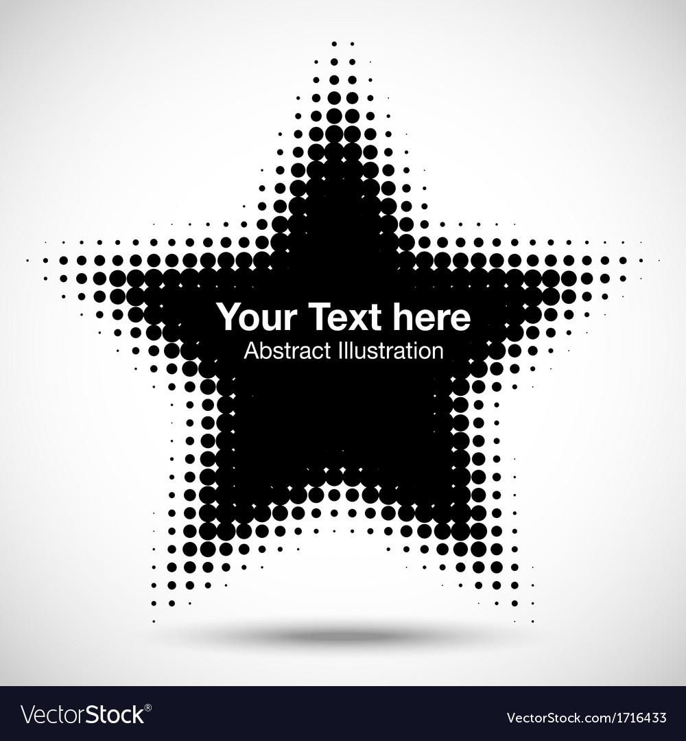 Abstract Halftone Design Element vector image