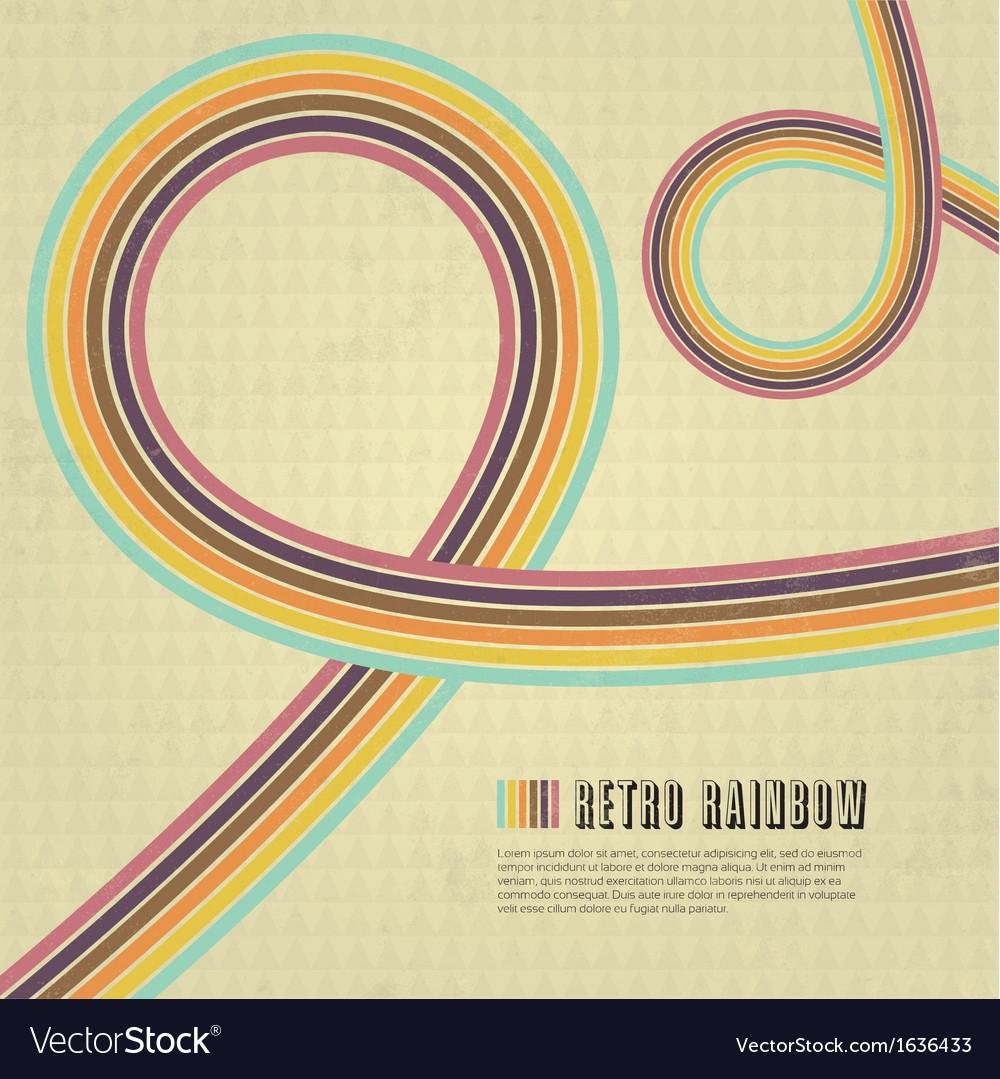 Retro Rainbow Background vector image