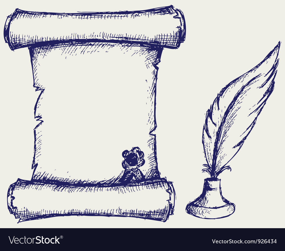 Parchment scroll vector image