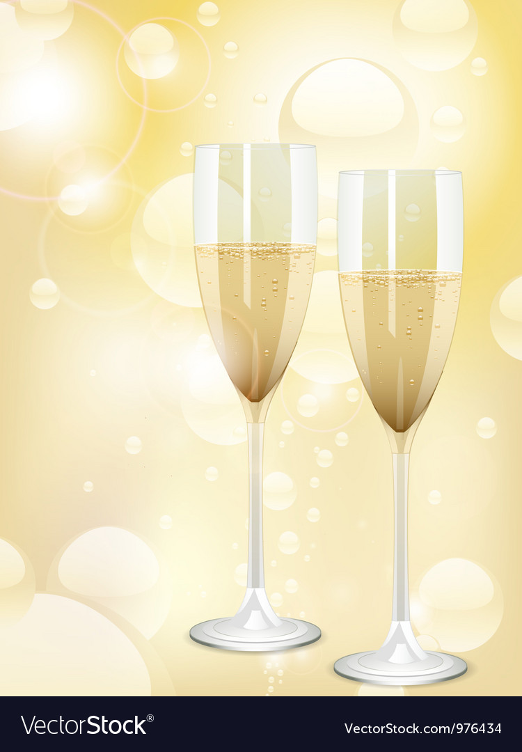 Champagne bubbles background Vector Image