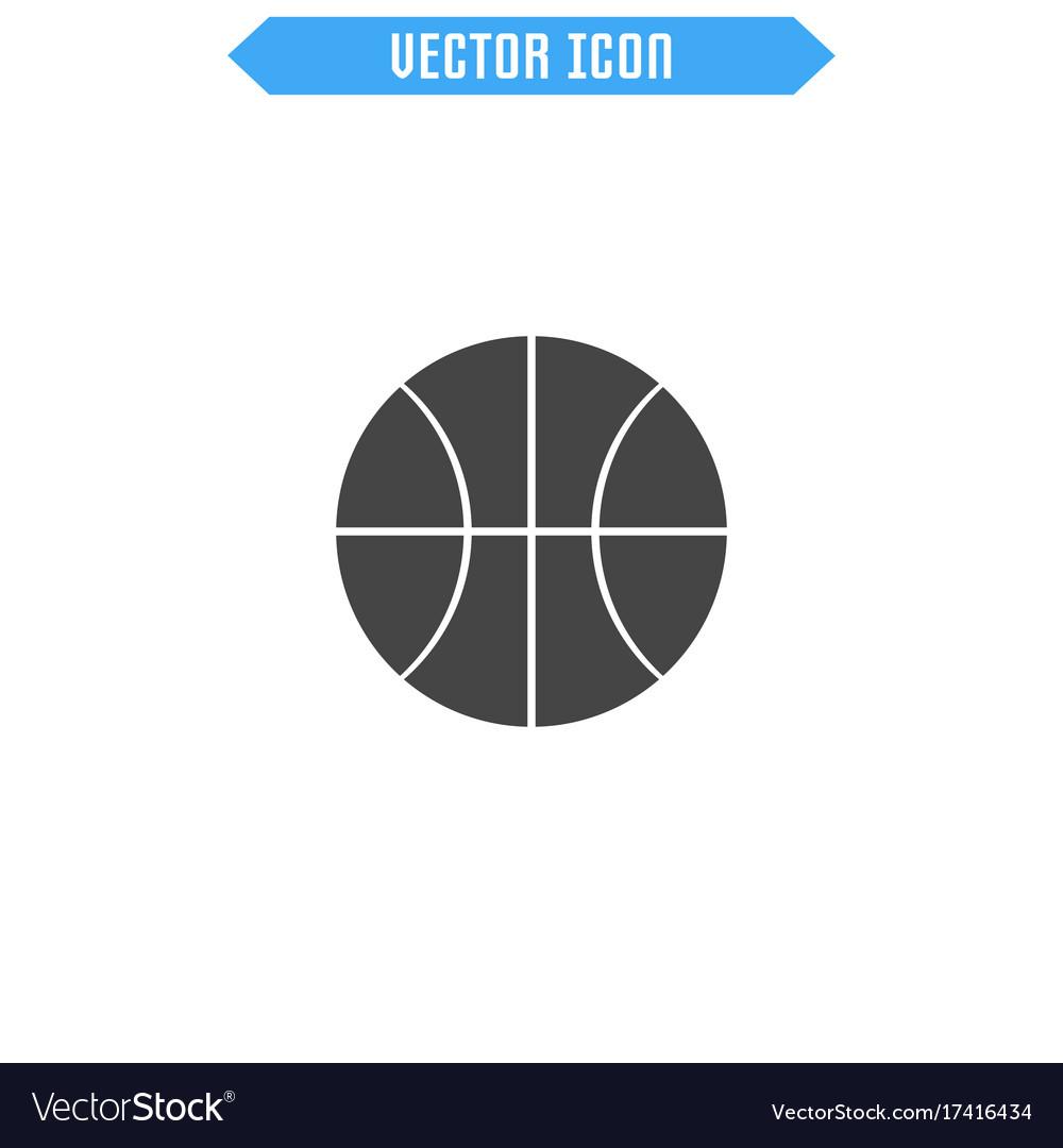 Basketball icon ball icon vector image