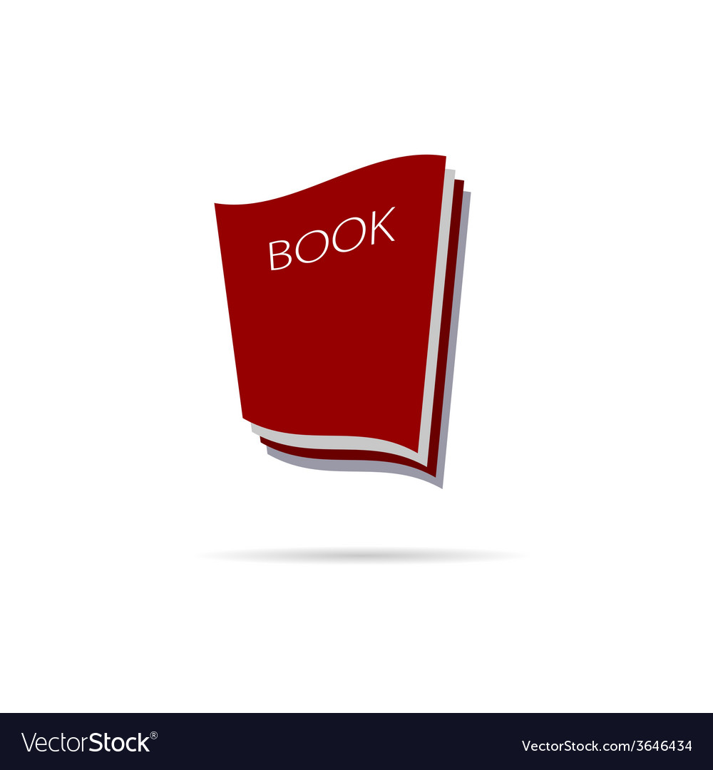 Book icon color vector image