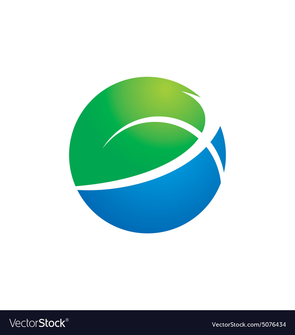 Globe earth ecology logo vector image