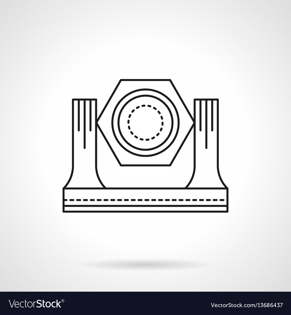 Stage lighting equipment flat line icon vector image