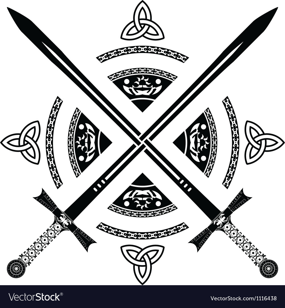 Fantasy swords fourth variant vector image