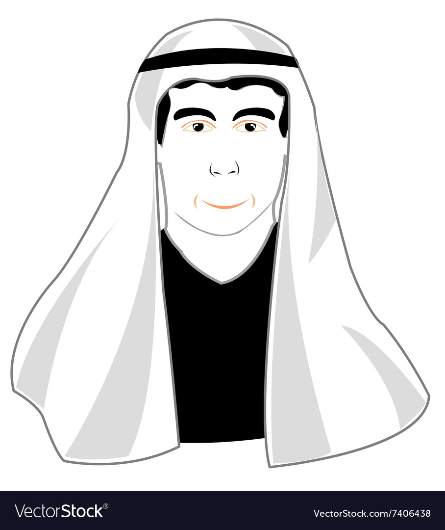 Man in arabic cloth vector image