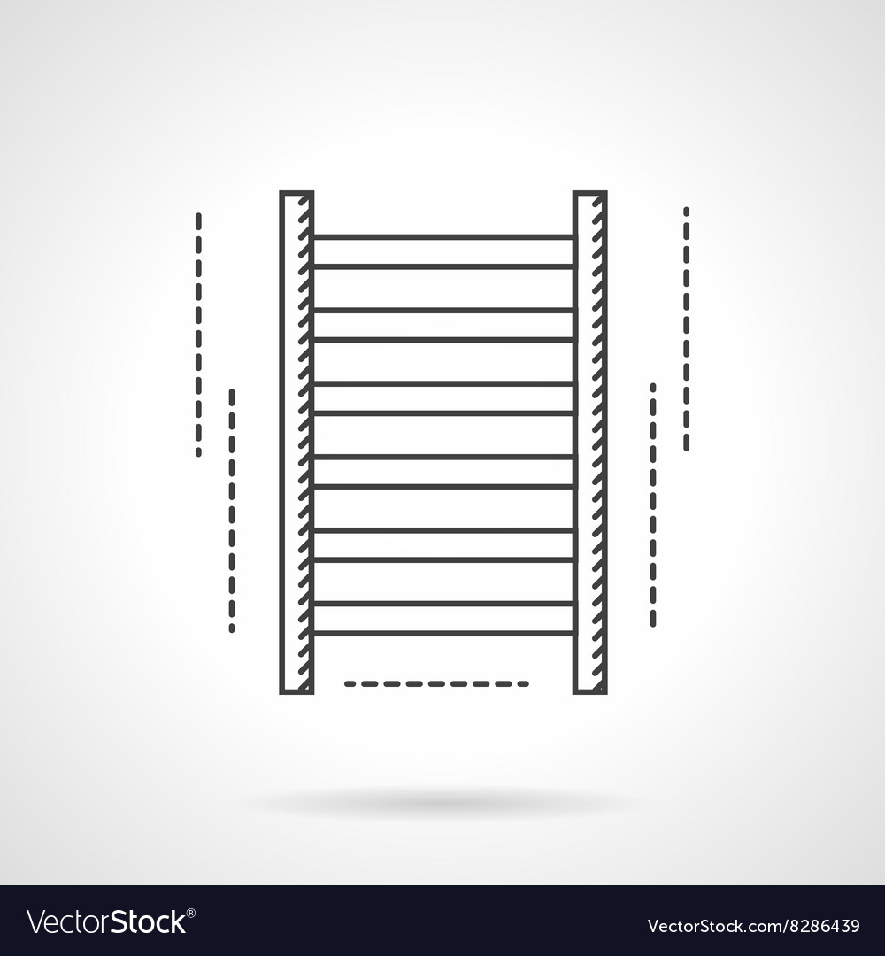 Gym wall bars flat line icon vector image