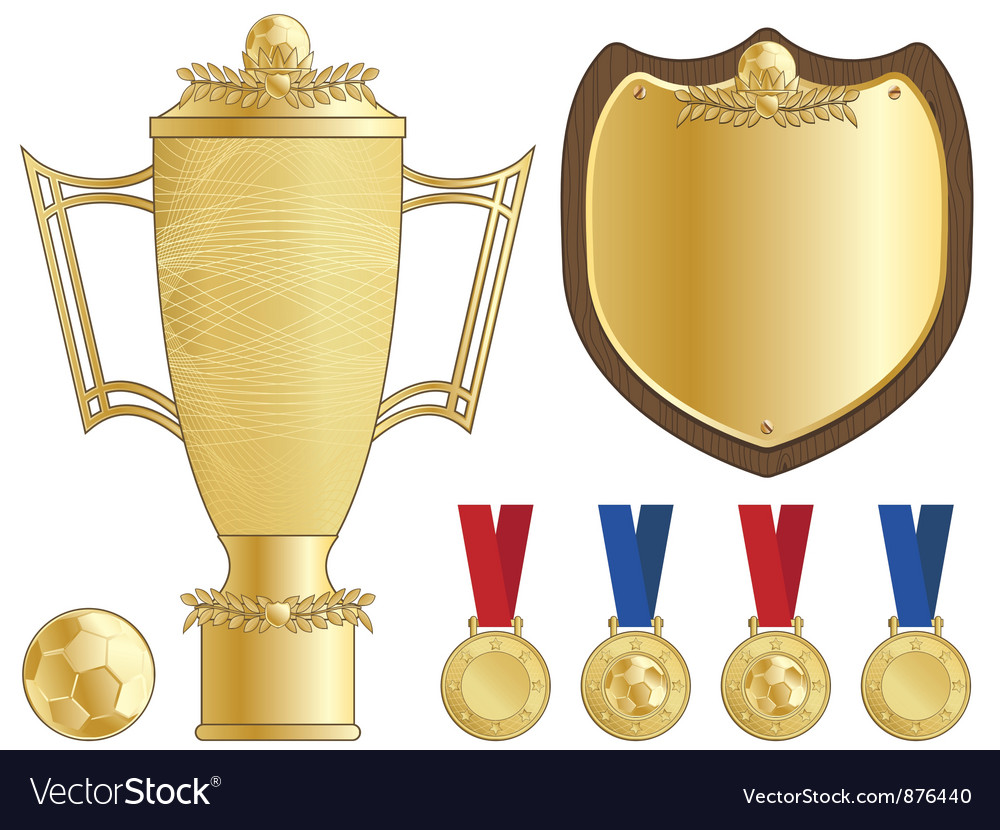 Football trophy vector image