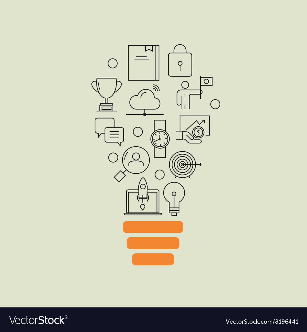 Business development successful career office vector image