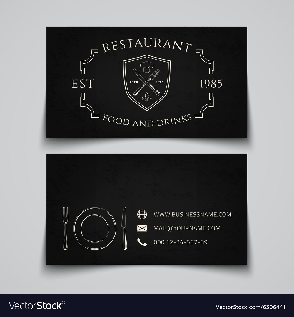 Restaurant business card template royalty free vector image restaurant business card template vector image flashek