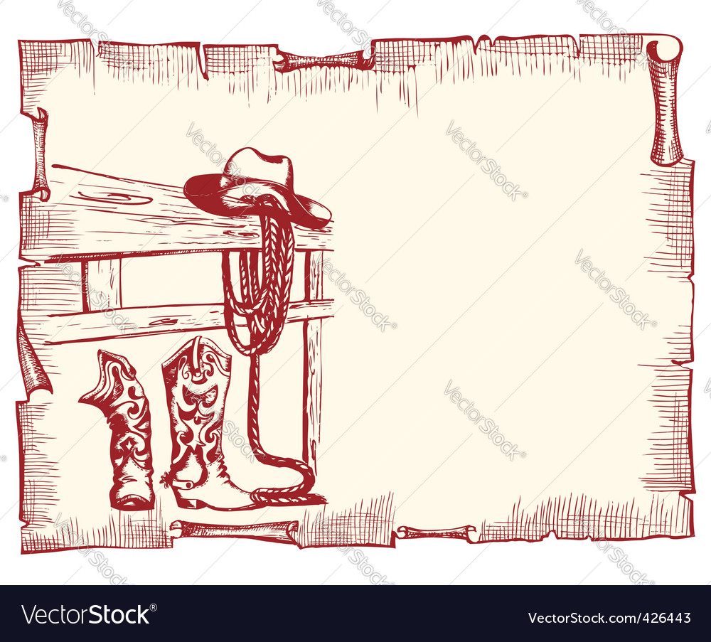 Cowboy clothes vector image