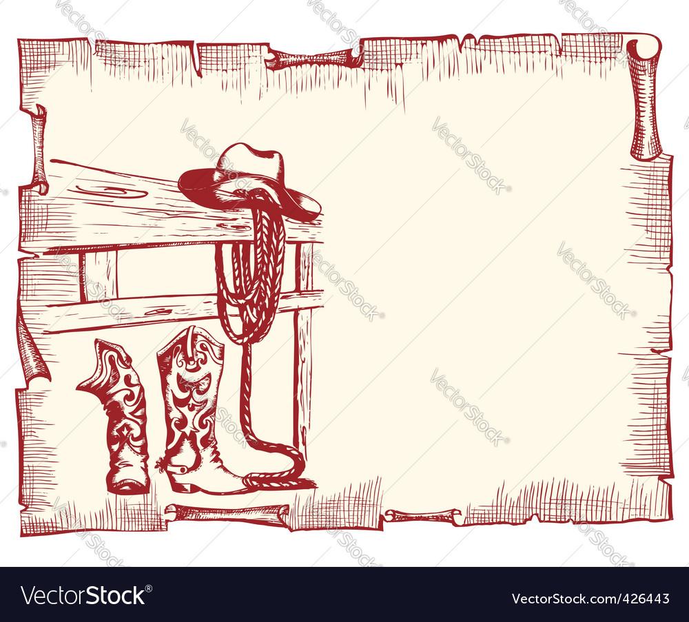 Cowboy clothes vector image