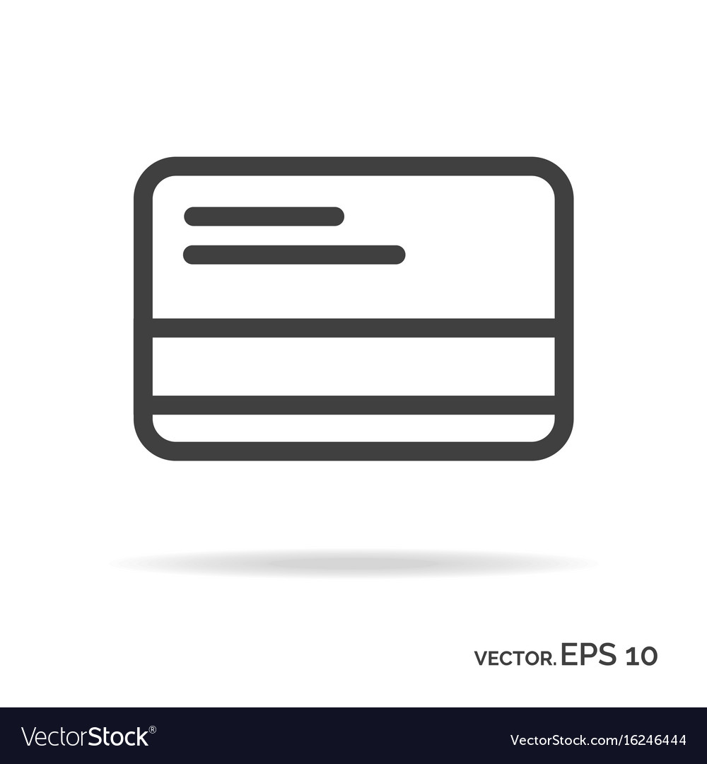 Credit card outline icon black color vector image
