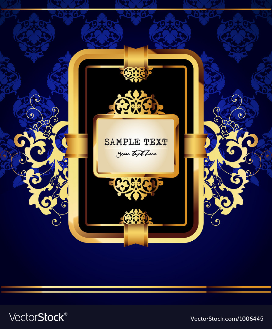 Background with golden label vector image