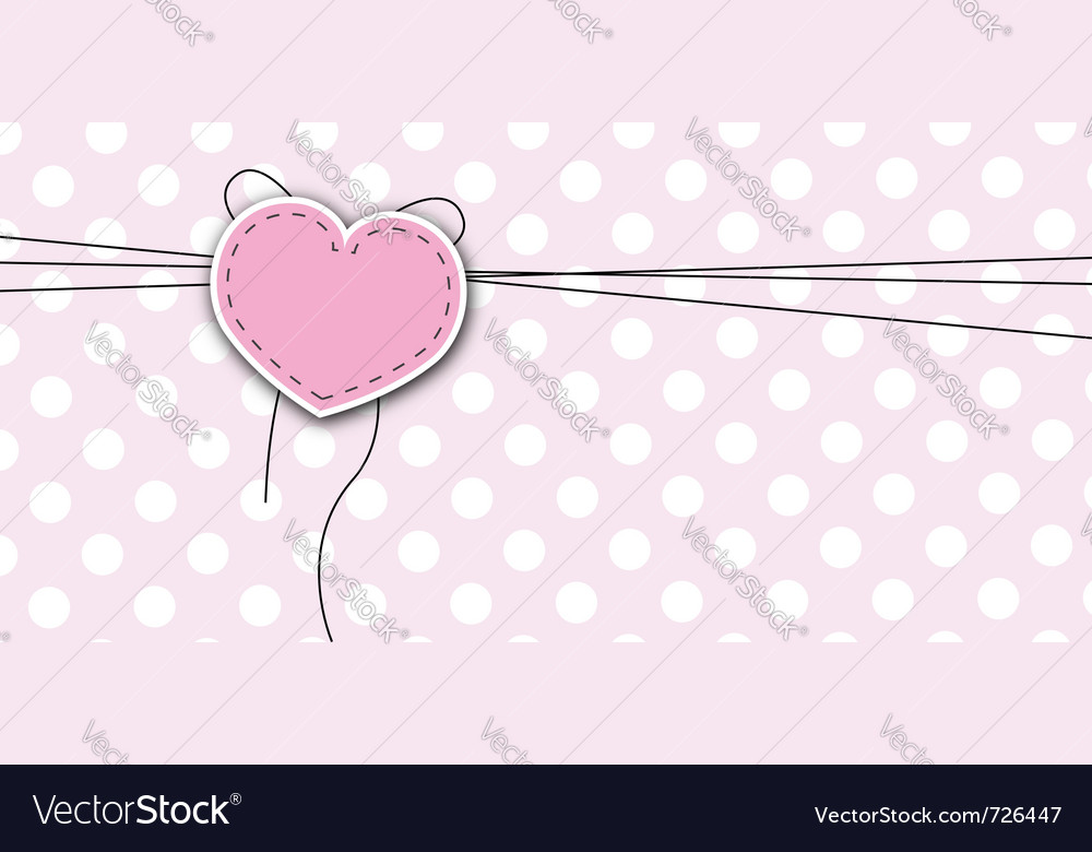 Love background with heart vector image