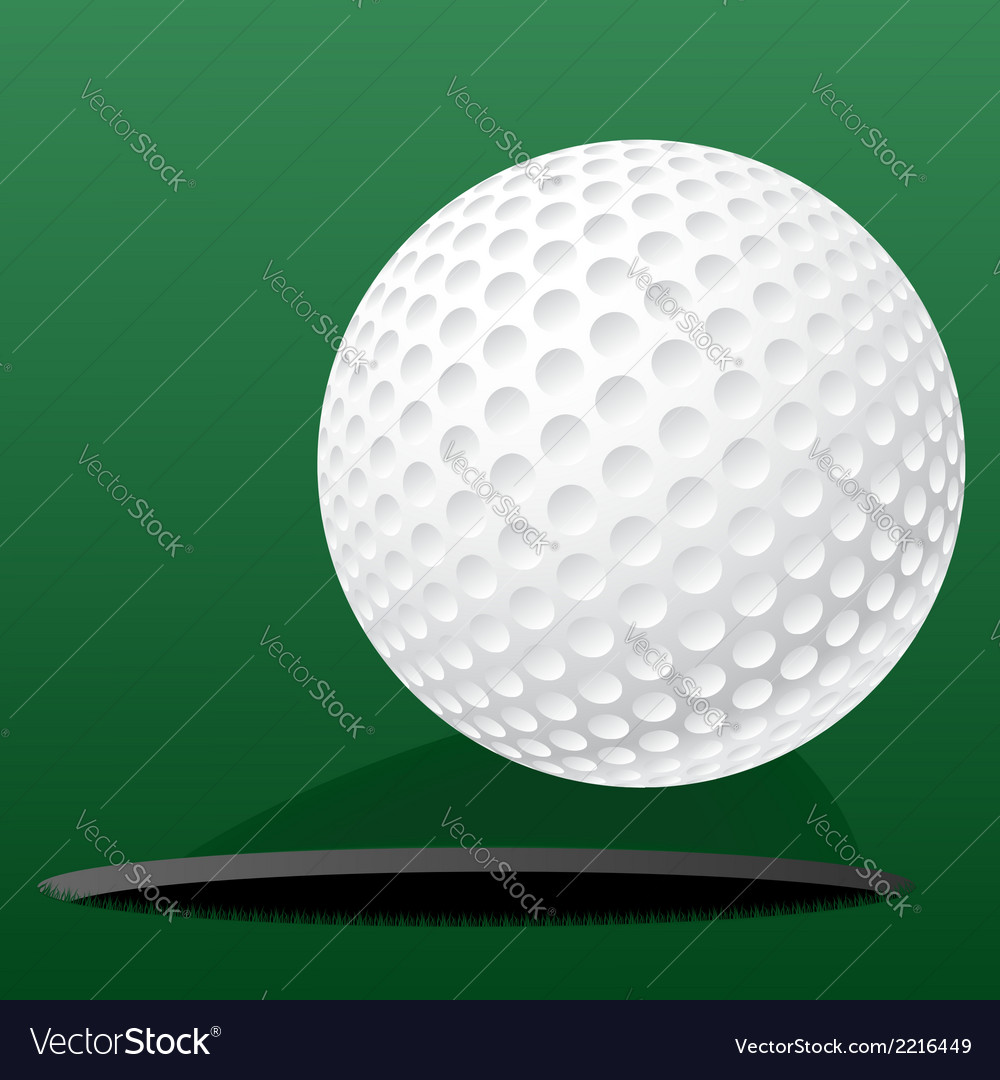 Golf ball rolling into the hole vector image