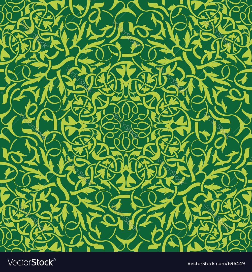 Green seamless wallpaper vector image