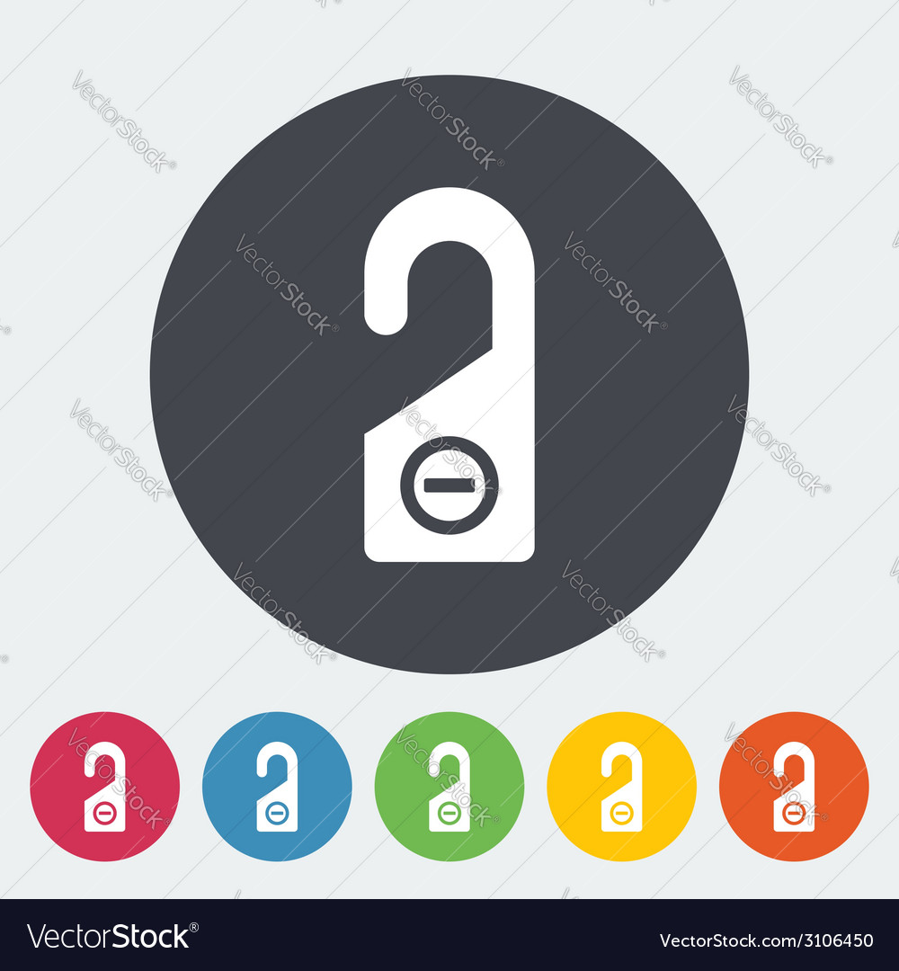 Door tag Royalty Free Vector Image - VectorStock