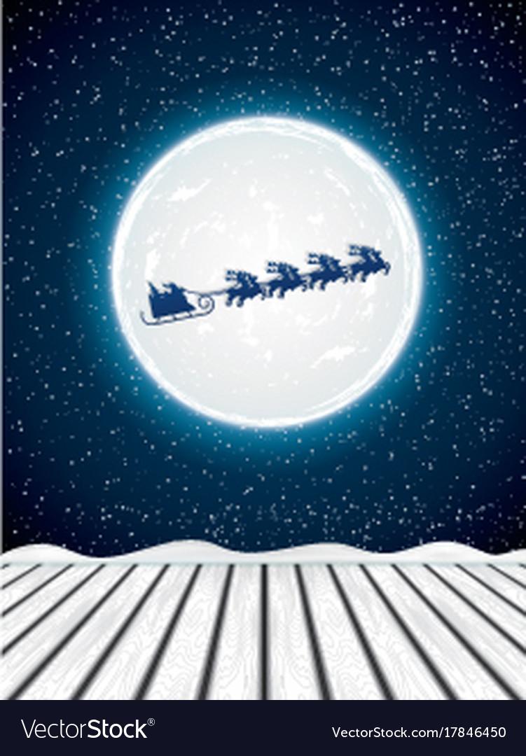 Winter night background vector image