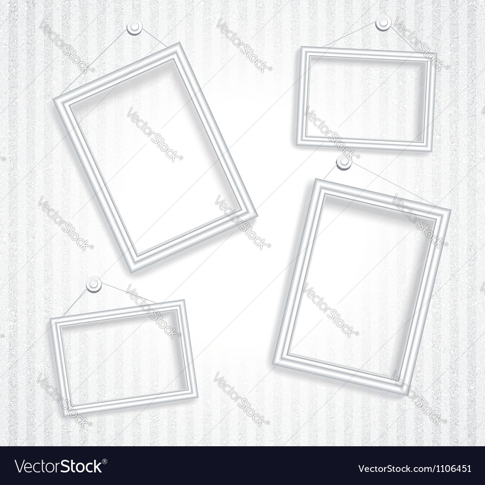 3d empty frame on the wall vintage background vector image - Empty Frame
