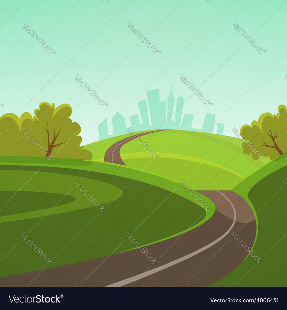 Road to the city vector image
