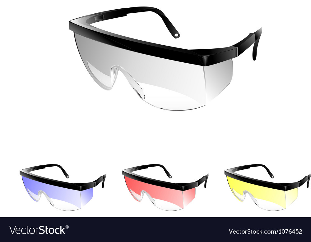 Safety Glasses vector image