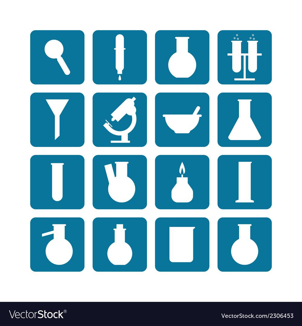 Set of laboratory equipment vector image
