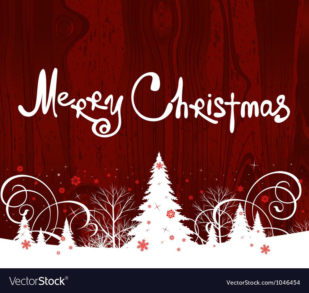 Handwriting Merry Christmas Vector Image