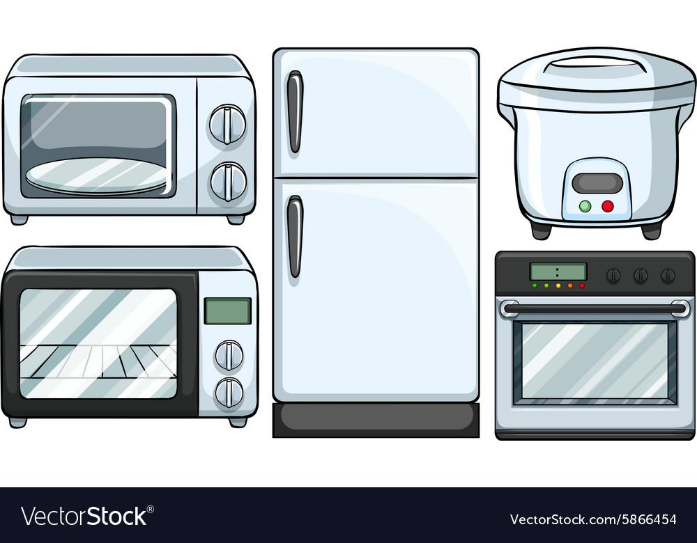 electronic equipment used in kitchen vector image electronic equipment used in kitchen royalty free vector  rh   vectorstock com