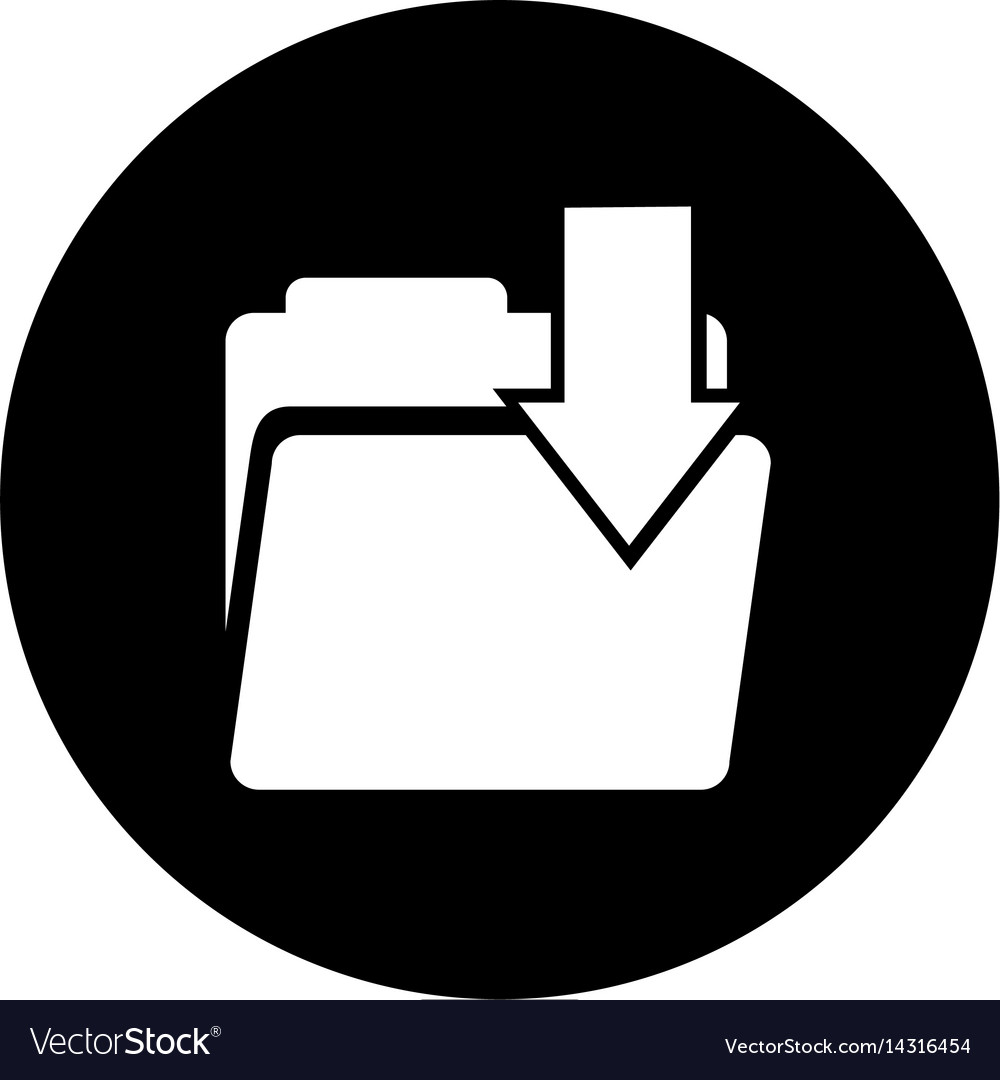 Folder download isolated icon vector image