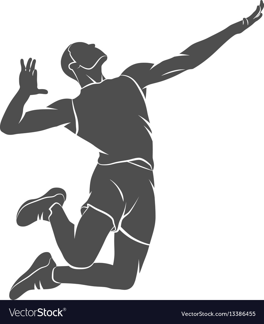 Abstract volleyball player vector image