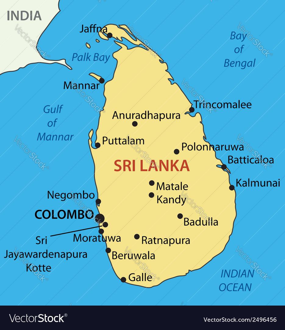 Democratic Socialist Republic of Sri Lanka map Vector Image