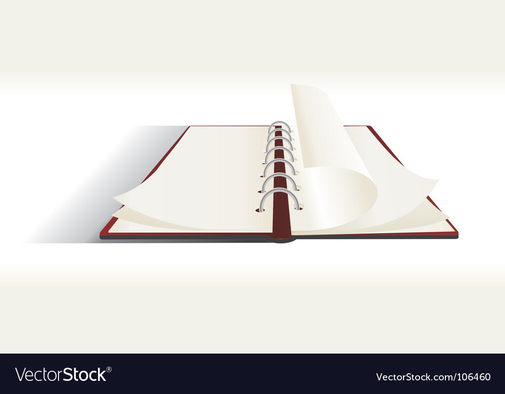 Diary Vector Image
