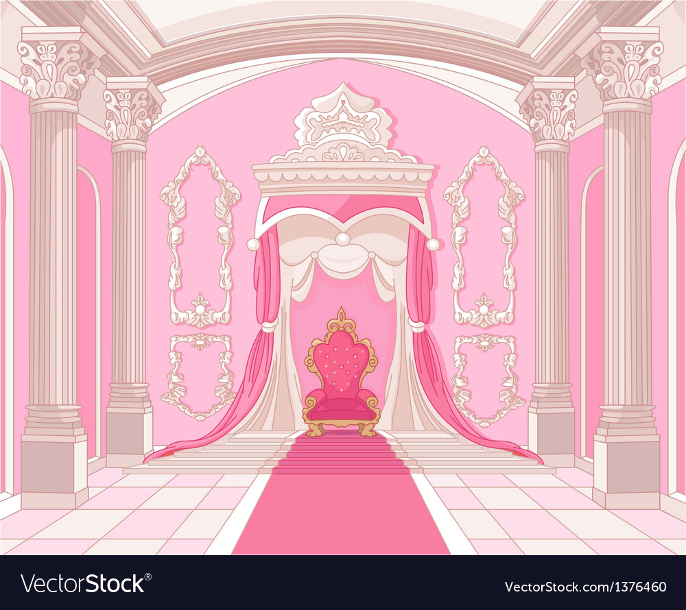 Throne room of magic castle vector image