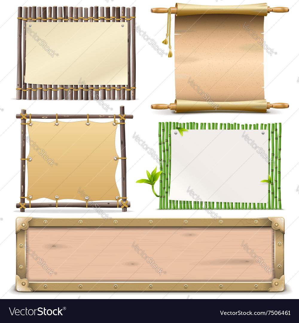 Boards Set 2 vector image