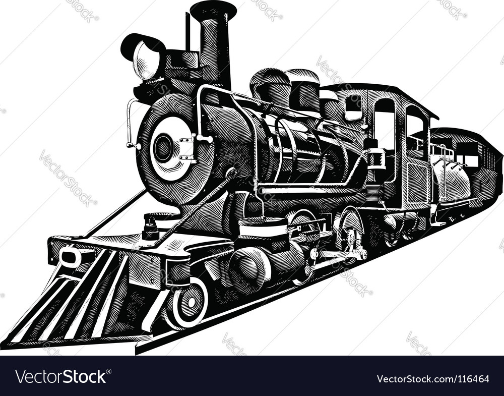 Express engraving vector image