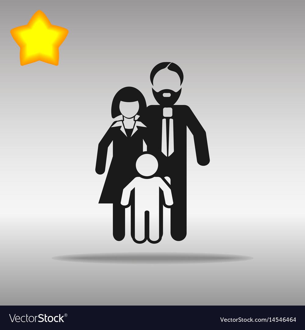 Family black icon button logo symbol concept vector image