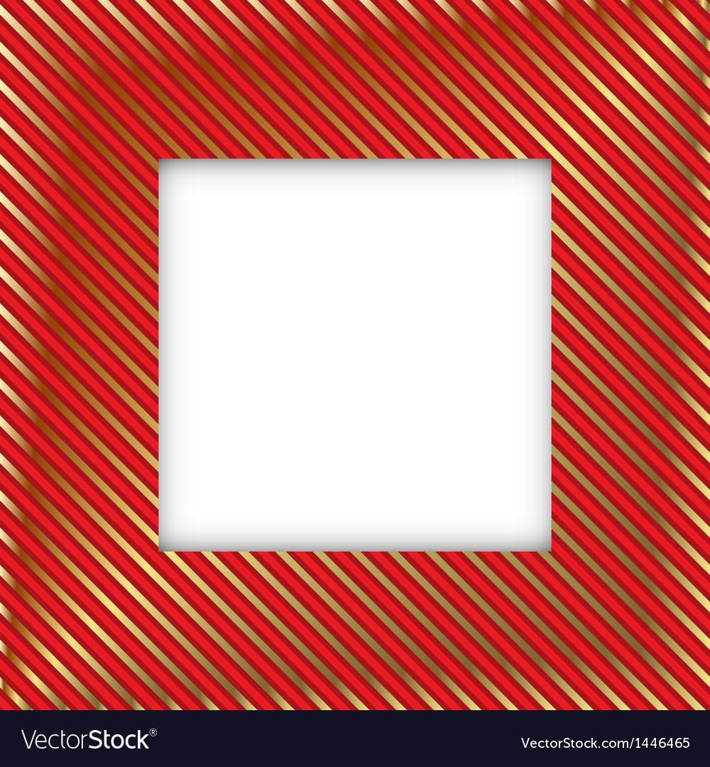 Royal square frame vector image