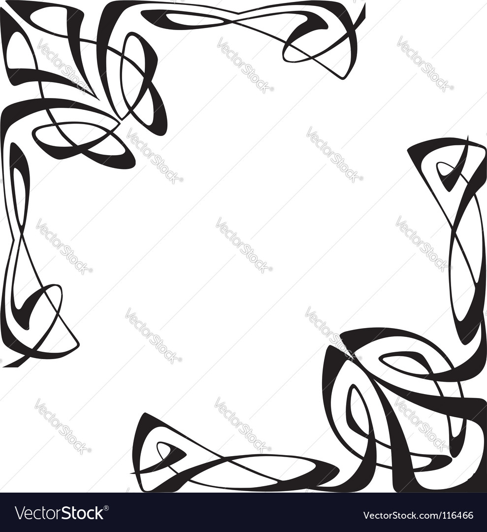 Art deco corners vector image