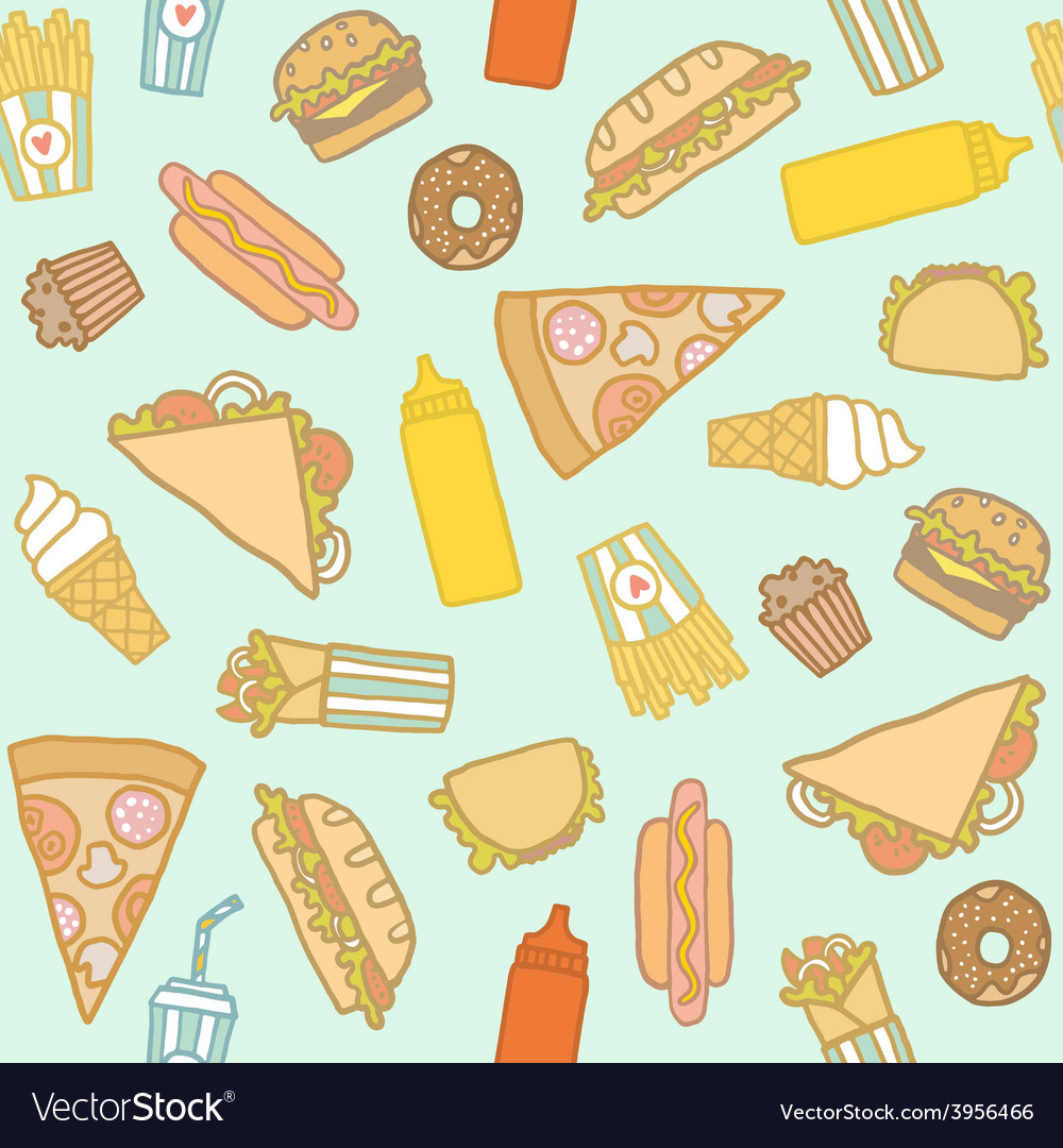 Fastfood pattern vector image