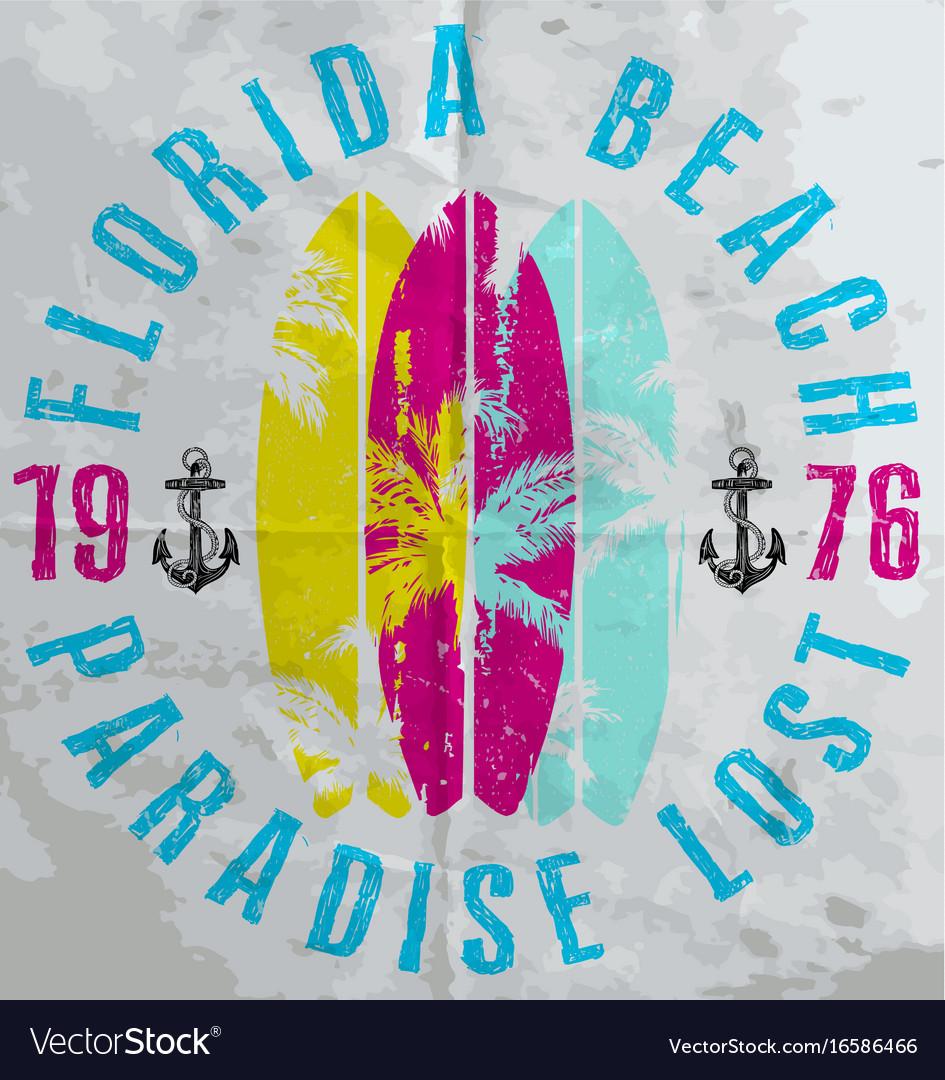 Summer poster florida vector image
